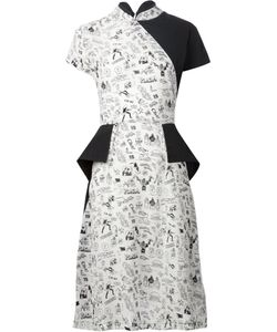 Ashley Williams | Printed Pane Dress