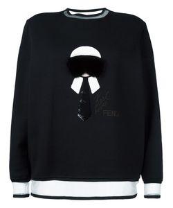 Fendi   Karlito Sweatshirt 40 Polyamide/Cotton/Silk/Mink Fur