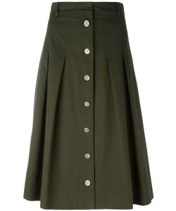 Vanessa Seward | A-Line Button Skirt Size 38