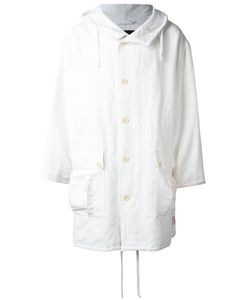 Ann Demeulemeester Blanche   Hooded Oversized Coat Adult Unisex Small