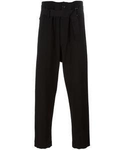Ann Demeulemeester Blanche | Drawstring Trousers Large Spandex/Elastane/Virgin Wool/Cotton