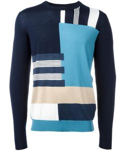 Salvatore Ferragamo | Patterned Stripe Jumper Xl Virgin Wool