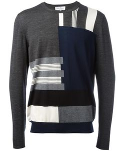 Salvatore Ferragamo | Patterned Stripe Jumper Medium Virgin Wool