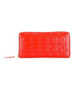 Comme Des Garçons | Wallet Embossed Flowers Wallet Leather