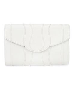 Khirma Eliazov | Panelled Clutch Bag Watersnake Skin/Suede