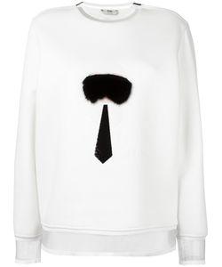 Fendi   Karlito Sweatshirt 42 Cotton/Polyamide/Silk/Mink Fur