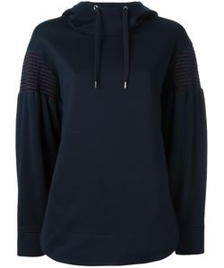 Cédric Charlier | Striped Embroidery Hoodie 42 Cotton