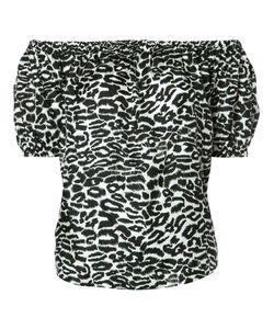 Piamita | Off-Shoulders Leopard Print Blouse Xs Silk