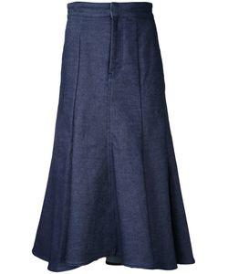 Le Ciel Bleu | Low Flare Denim Skirt Size
