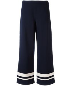 'S Max Mara | S Max Mara Wide-Legged Striped Trousers Large