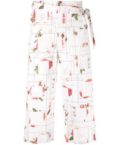 Chalayan | Rose Print Wrap Trousers Size Medium