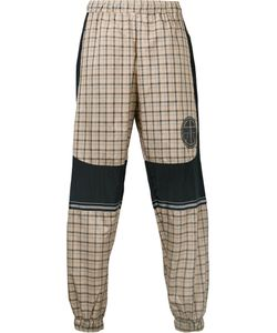 Astrid Andersen | Logo Patch Checked Trousers Men