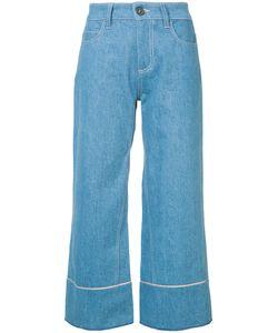 Vionnet   Cropped Wide Leg Jeans Women