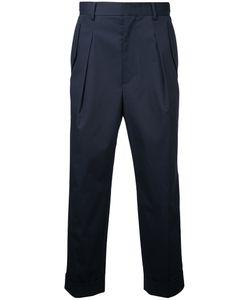 Juun.J   Cropped High Waist Trousers 46 Cotton/Polyurethane
