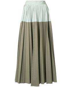 Lela Rose | Bicolour Pleated Skirt 6 Cotton
