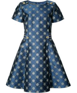Alberta Ferretti | Flared Jacquard Dress Size 44