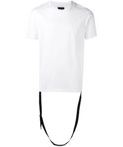 Les Hommes   Strap Detail T-Shirt Large Cotton
