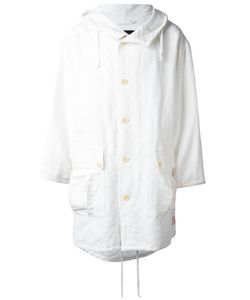 Ann Demeulemeester Blanche | Hooded Oversized Coat Adult Unisex