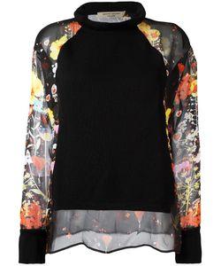 Piccione.Piccione | Piccione. Piccione Sheer Panel Jumper 44 Silk/Merino