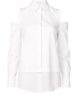 Kaufmanfranco | Cut-Off Shoulders Shirt Small Silk/Cotton/Spandex/Elastane