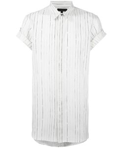 Ann Demeulemeester Grise | Striped Shortsleeved Shirt Small Cotton
