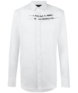 Ann Demeulemeester Grise | Birds Print Shirt Small Cotton