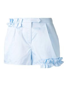 Paskal | Ruffled Trim Shorts Small Cotton/Spandex/Elastane