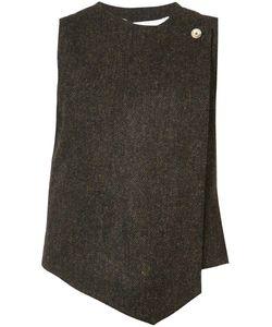 RENLI SU | Tweed Asymmetric Waistcoat