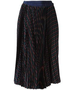 Sacai | Pleated Striped Skirt 1