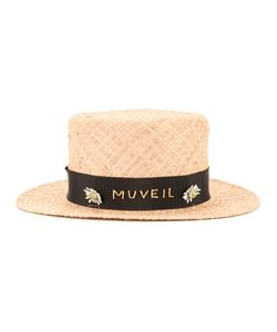 Muveil | Branded Band Boater Hat