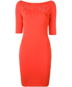 Blumarine   Boat Neck Fitted Dress Size 44