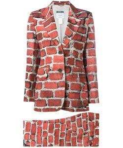 Moschino Vintage | Brick Print Trouser Suit Size