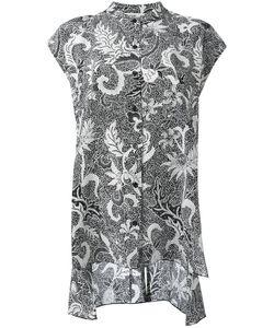 Diane von Furstenberg | Printed Short Sleeve Blouse