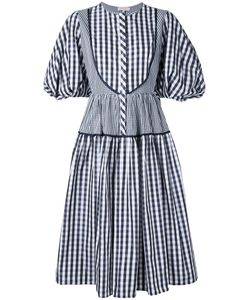 Dice Kayek | Gingham Puff Sleeve Dress Size