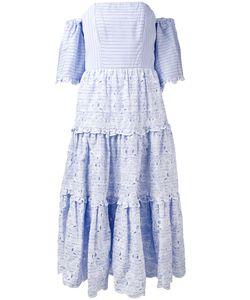 Erdem | Striped Off Shoulder Dress