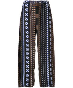 Issey Miyake | Aztec Print Cropped Trousers Size 2