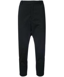 Nili Lotan | Cropped Drop-Crotch Tailored Trousers Women
