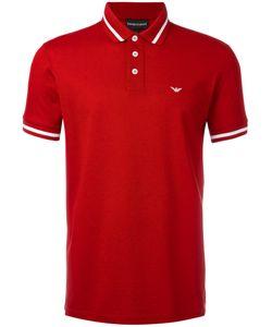 Emporio Armani | Striped Trim Polo Shirt Size Small