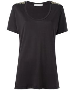 Pierre Balmain | Embellished Shoulders T-Shirt Size 40