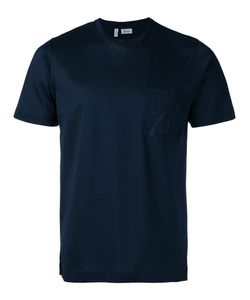 Brioni   Embroidered Logo T-Shirt Size