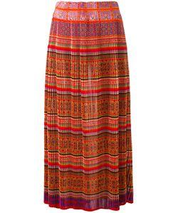 Mes Demoiselles | Pleated Tile-Print Skirt