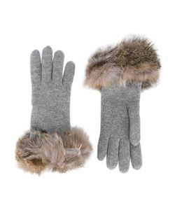 Inverni | Fox Fur-Trimmed Gloves Women
