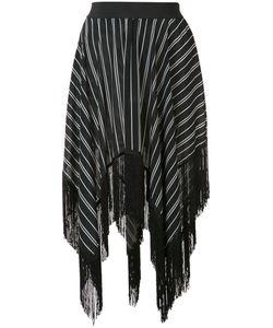 Preen by Thornton Bregazzi | Asymmetric Fringed Skirt Size Small