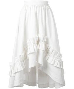 Cédric Charlier | Gathe Waist Ruffled Skirt 44 Cotton/Other