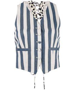 Roberto Cavalli | Striped Waistcoat Size 38