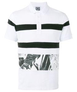 Les Hommes | Printed Trim Polo Shirt Size Xl
