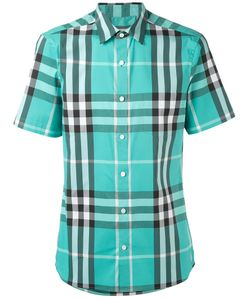 Burberry | Checked Slim-Fit Shortsleeved Shirt
