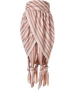 G.V.G.V. | Striped Knotted Pleated Skirt