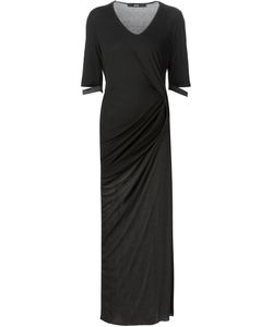 Musée | Sheer Panel Draped Long Dress
