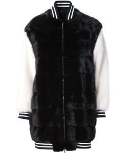 Blancha | Long Ribbed Cuff Coat 42 Goat Fur/Mink